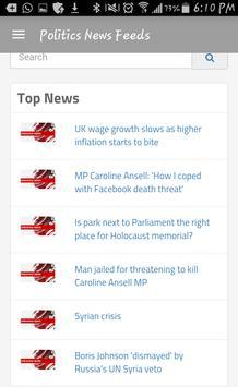 Politics News Feeds screenshot 1