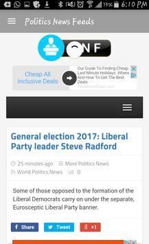 Politics News Feeds screenshot 2