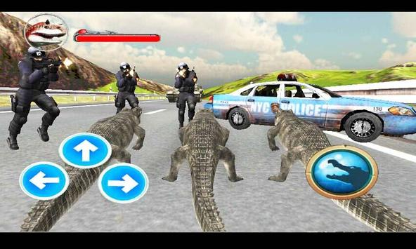 Police Crocodile Simulator 3D screenshot 1