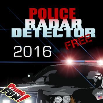 Police radar detector prank poster
