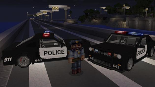 Police CarMod for Minecraft apk screenshot
