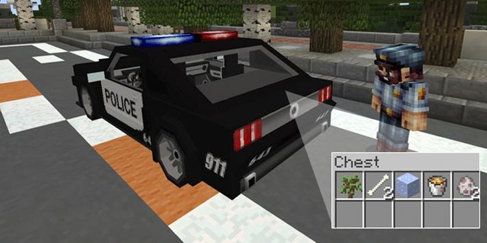 Police CarMod for Minecraft poster