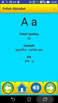 Polish Alphabet for university students poster