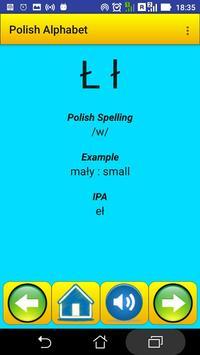 Polish Alphabet for university students screenshot 4