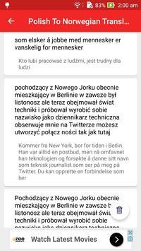 Polish Norwegian Translator screenshot 4
