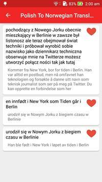 Polish Norwegian Translator screenshot 5