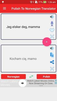 Polish Norwegian Translator screenshot 1