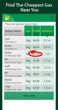 Simple Cheap Gas Prices Finder screenshot 1
