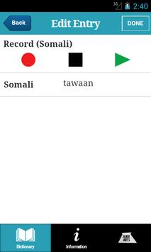 Somali English Dictionary apk screenshot