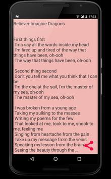 Top Songs Lyrics 2018 apk screenshot