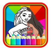 Coloring Pages moana - drawing book icon