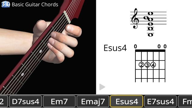 Guitar 3D - Basic Chords APK Download - Free Education APP for ...