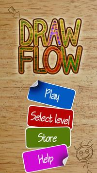 Draw-Flow: lovely puzzle game poster
