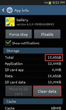Clear data shortcut apk screenshot