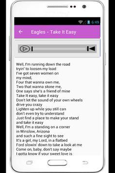 Eagles Hotel California Lyrics poster