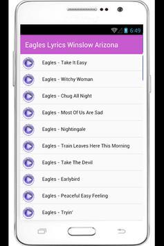 Eagles Hotel California Lyrics apk screenshot