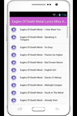 akribische Färbeprozesse Outlet-Verkauf Modestile Eagles Of Death Metal Lyrics for Android - APK Download