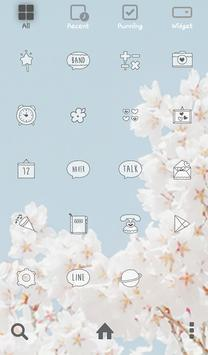 cherry blossom dodol theme apk screenshot