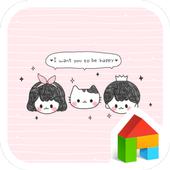 be happy 도돌런처 테마 icon