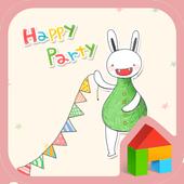 Bibi(happy party)Dodol Theme icon
