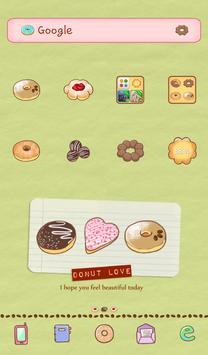Donut love dodol theme poster