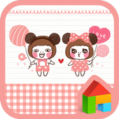 pink miki mini dodol theme icon