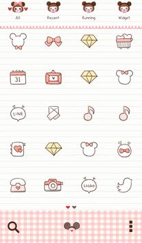 pink miki mini dodol theme apk screenshot