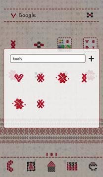 Heart soft knit dodol theme apk screenshot