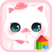 hello nyang pink dodol theme icon