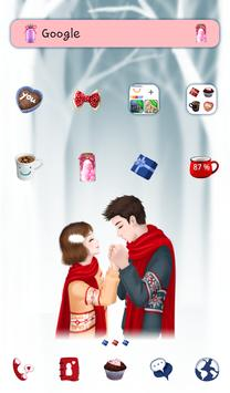 lovely girl couple dodol theme poster