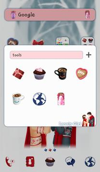 lovely girl couple dodol theme screenshot 1