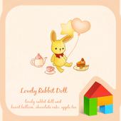 lovely rabbit doll dodol theme icon