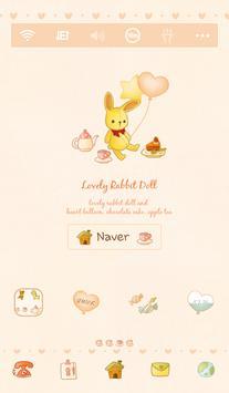 lovely rabbit doll dodol theme poster