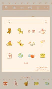 lovely rabbit doll dodol theme apk screenshot
