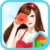 lovrly girl summer dodol theme icon