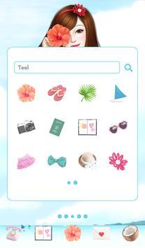 lovrly girl summer dodol theme screenshot 1