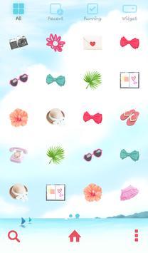 lovrly girl summer dodol theme screenshot 2