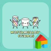 marshmallow friend dodol theme icon