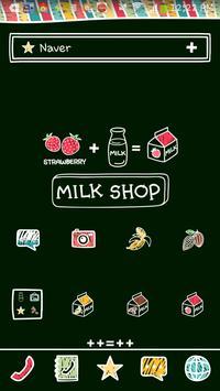 milk shop poster