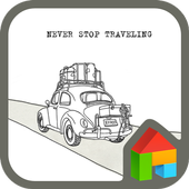 never stop travel dodol theme icon