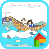 Ocean travel dodol theme icon