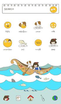 Ocean travel dodol theme poster