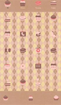 Pink brownie Dodol Theme apk screenshot