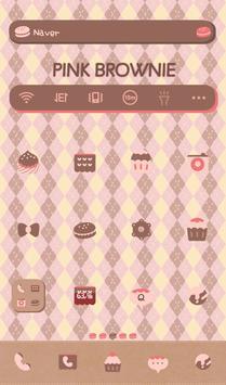 Pink brownie Dodol Theme poster