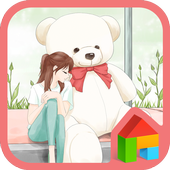 to girl (waiting) dodol theme icon