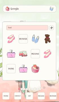 to girl (waiting) dodol theme screenshot 1