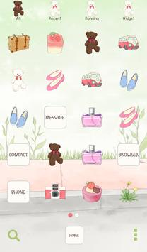 to girl (waiting) dodol theme screenshot 2
