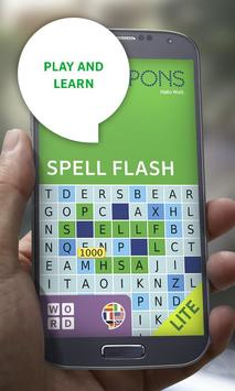 PONS SpellFlash Lite poster