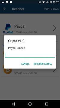 Cripto converta seus pontos apk screenshot