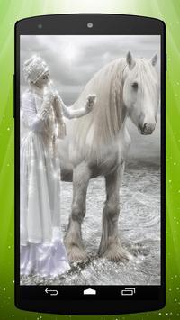 White Pony Live Wallpaper apk screenshot